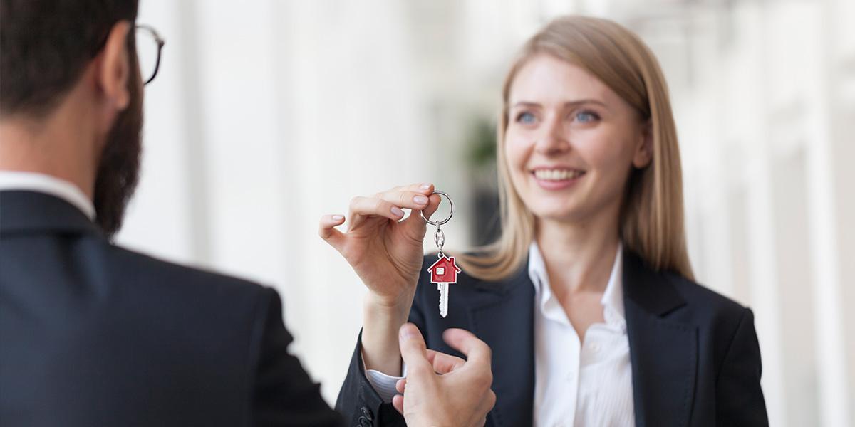 Schlüsselübergabe - Immobilen, Wohnungswirtschaft