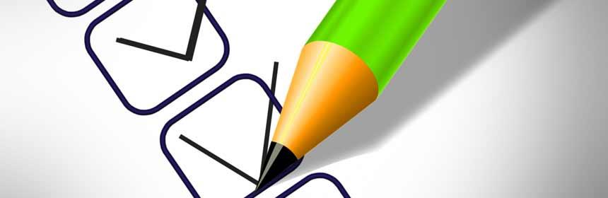 Stift und Häckchen