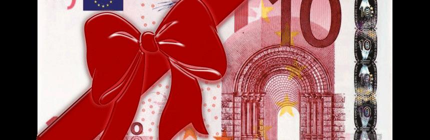 Geldschein Geschenk
